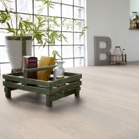 Tarkett Oak Cotton White Natura Matt Lacquer Engineered Wood Flooring
