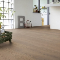 Tarkett Oak Soft Grey Natura Matt Lacquer Engineered Wood Flooring