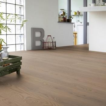 Tarkett Oak Soft Grey Natura Matt Lacquer Engineered Wood Flooring