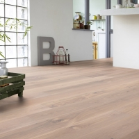 Tarkett Oak Satin White Hardwax Oil Engineered Wood Flooring