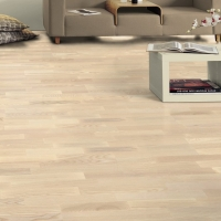 Tarkett 14mm Ash Linen White Tres Engineered Wood Flooring