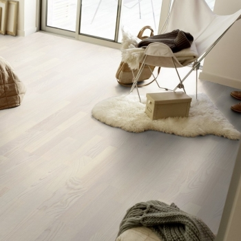 Tarkett 14mm Ash Pearl White Tres Engineered Wood Flooring