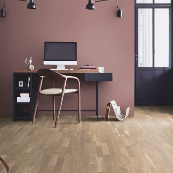 Tarkett Cream 2 strip Natura Matt Lacquer Engineered Wood Flooring