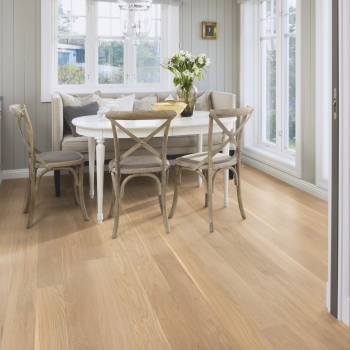Tarkett Move Oak White Matt Lacquer Engineered Wood Flooring