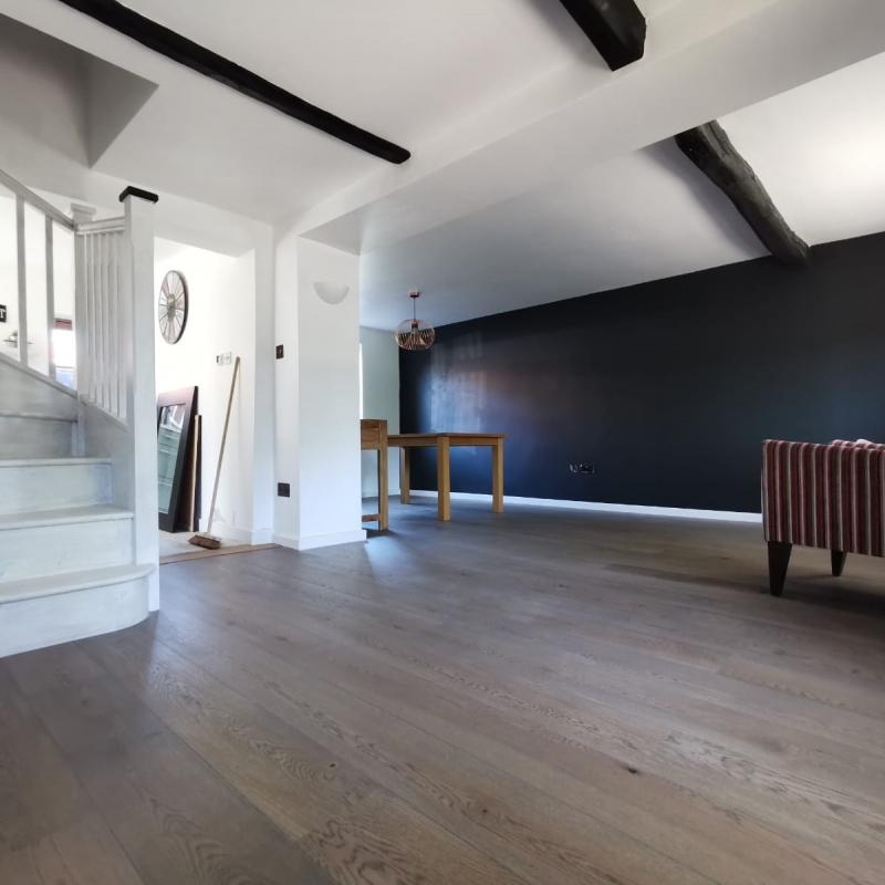Tarkett Anthracite Grey Oak Engineered Wood Flooring