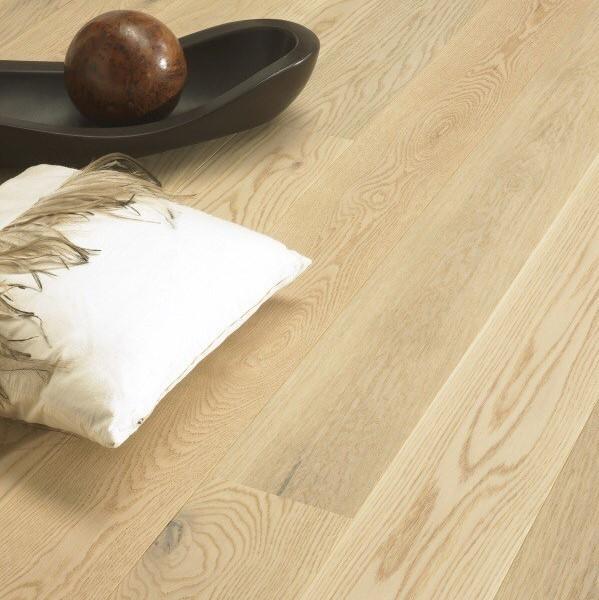 Tarkett Oak Cream Rustic Brushed Matt Lacquer Engineered Wood Flooring