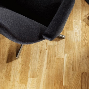 Tarkett Pure Brushed Oak Nature 3 Strip Engineered Wood Flooring