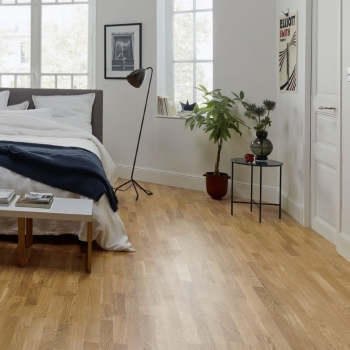 Tarkett Pure Oak Nature 3-Strip Matt Lacquer Engineered Wood Flooring