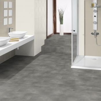 Tarkett iD Inspiration Loose-lay Beton Grey Vinyl Tile Flooring