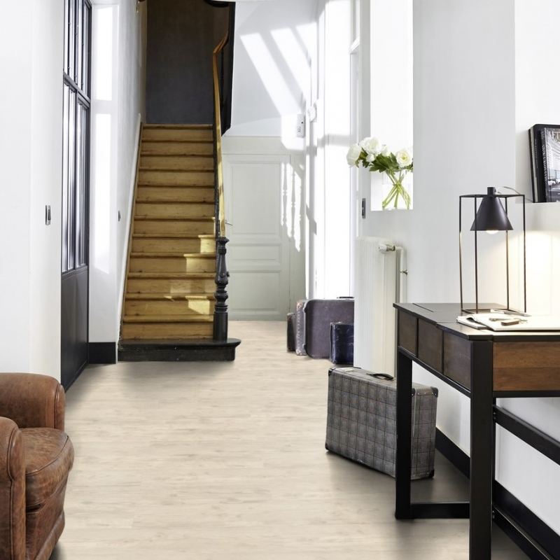 Tarkett iD Inspiration Loose-lay Christmas Pine White Vinyl Flooring ...