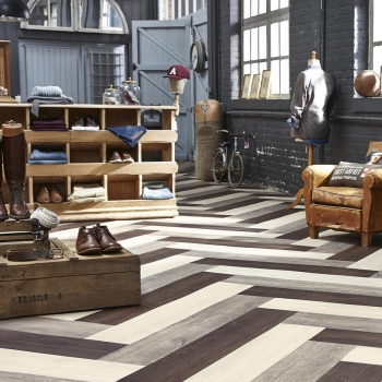 Tarkett iD Inspiration Loose-lay Limed Oak Patterned Vinyl Flooring
