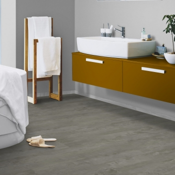 Tarkett Starfloor 55 Click Rough Concrete Dark Grey Vinyl Tile Flooring
