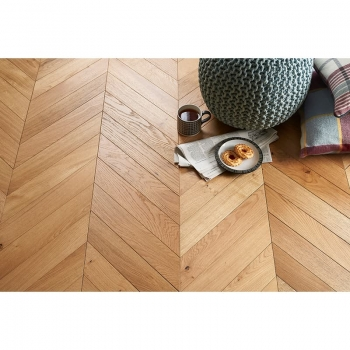 Tuscan Modelli Chevron Oak Plank TF40 Engineered Parquet Flooring