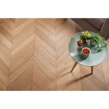 Tuscan Modelli Chevron Light Smoked Oak TF41 Engineered Parquet Flooring