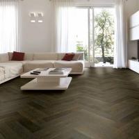 Tuscan Herringbone Smoked Oak Stained Black TF30 Engineered Parquet