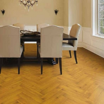 Tuscan Herringbone Smoked Oak Engineered Parquet Flooring