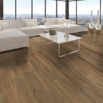 Tuscan Grande Dark Smoked Handscraped Engineered Wood Flooring