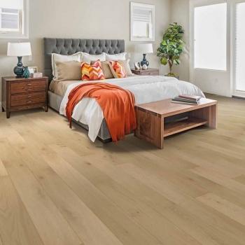 Tuscan Grande White Smoked Oak Handscraped Engineered Wood Flooring