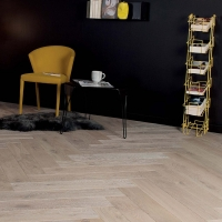 Woodland French Oak Herringbone Weathered Limestone