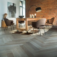 Woodland French Oak Herringbone Weathered Stone