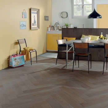Woodland French Oak Herringbone Weathered Grey