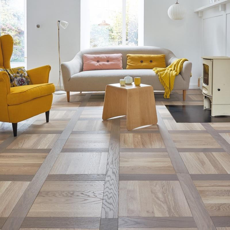 Woodland French Oak Lyon Parquet Pattern Flooring