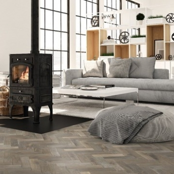 Woodland Classics Smoked & White Oiled Brushed Herringbone
