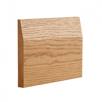 Deanta Half Splayed Oak Veneered Pre-finished Skirting Board 14.4 Lmt