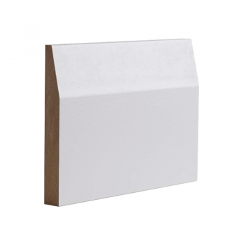 Deanta Half Splayed White Primed Skirting Board 14.4 Lmt Pack