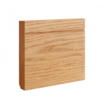 Deanta Shaker Oak Veneered Pre-finished Skirting Board 14.4 Lmt Pack
