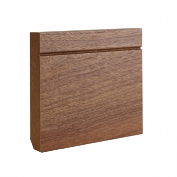 Deanta Shaker Walnut Veneered Prefinished Skirting Board 14.4 Lmt Pack