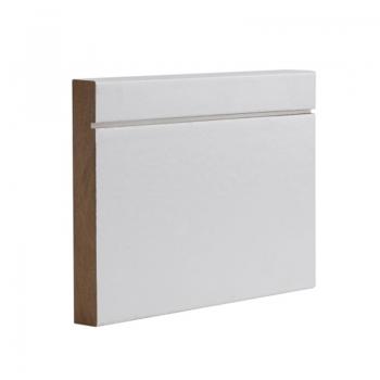 Deanta Half Shaker Style White Primed Skirting Board 14.4 Lmt Pack