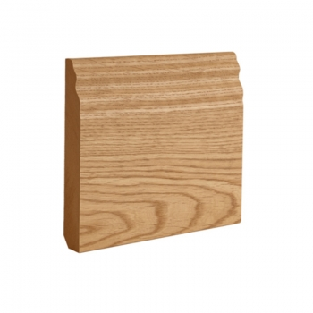 Deanta Traditional Oak Veneered Pre-finished Skirting Board 14.4 Lmt
