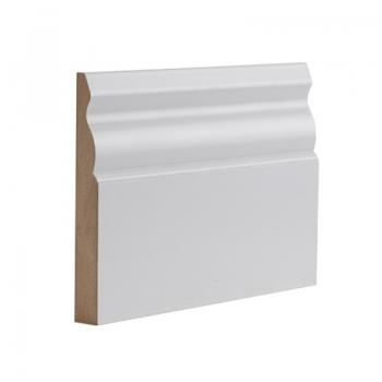 Deanta Ulysses White Primed Skirting Board 14.4 Lmt Pack