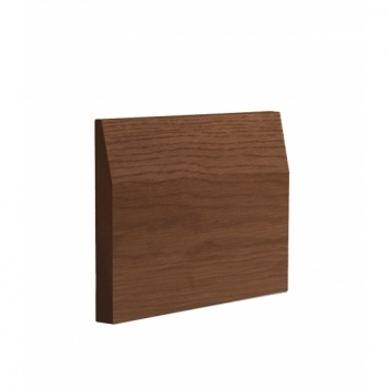 Deanta Walnut Veneered Half Splayed finished Skirting Board 14.4 Lmt