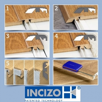Quickstep Incizo 5 in 1 Multi Purpose Wood Veneer Floor Trim