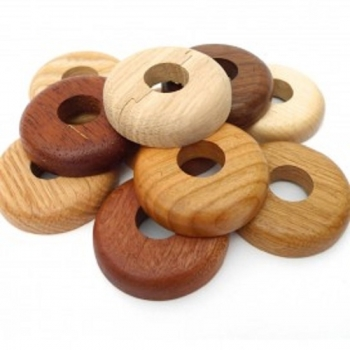Various wood species radiator pipe covers