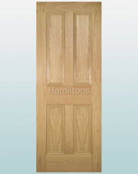 Deanta Oak Kingston Solid Panel Doors