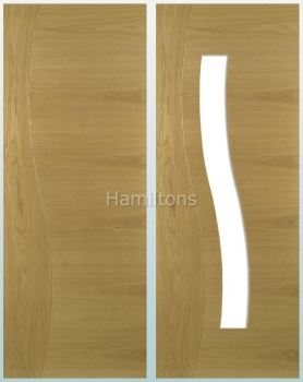 Deanta Oak Cadiz Solid Panel Doors And Glazed Doors