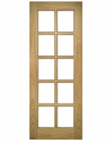 Deanta Bristol Oak Doors With 10 Pane Clear Bevelled Glass