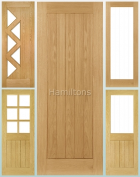 Deanta Oak Ely Solid Panel Doors And Glazed Doors