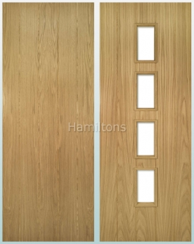 Deanta Oak Galway Solid Panel Doors And Glazed Doors