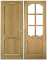 Deanta Oak Louis Solid Panel And Glazed Doors
