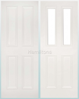Deanta White Rochester Solid Panel  And Glazed Doors