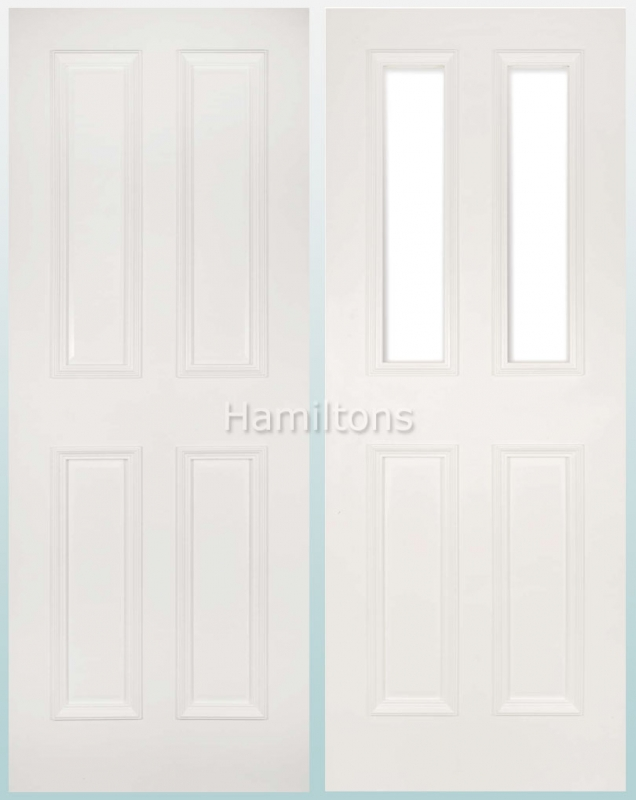 Deanta White Rochester Solid Panel Doors And Glazed Doors