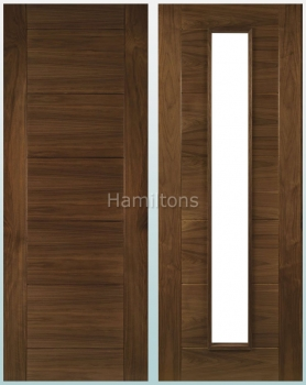 Deanta Walnut Seville Solid Panel And Glazed Doors