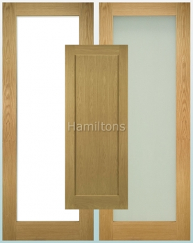 Deanta Oak Walden Solid Panel And Glazed Doors