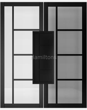 Deanta Black Brixton Solid Panel And Glazed Doors