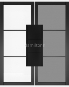 Deanta Black Camden Solid Panel And Glazed Doors