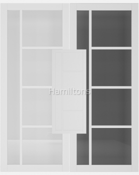 Deanta White Brixton Solid Panel And Glazed Doors